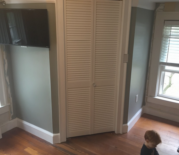 Bathroom mega-project, part. 1: a corner closet